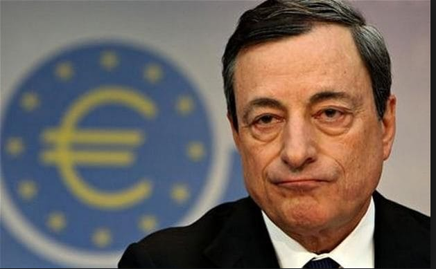 Draghi headlines, euro, yields up